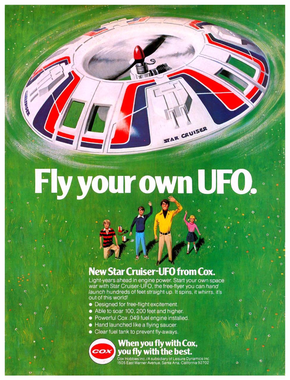 Cox Star Cruiser-UFO - 1979