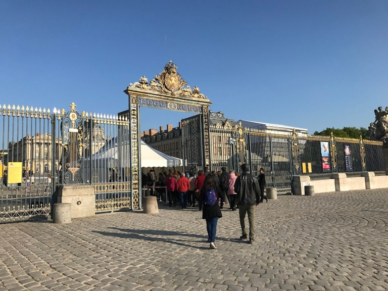 Entrance of Palace of Versailles