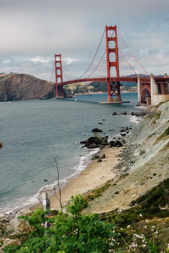 Marshall's beach San Francisco presidio Golden gate bridge hiking best view golden gate bridge
