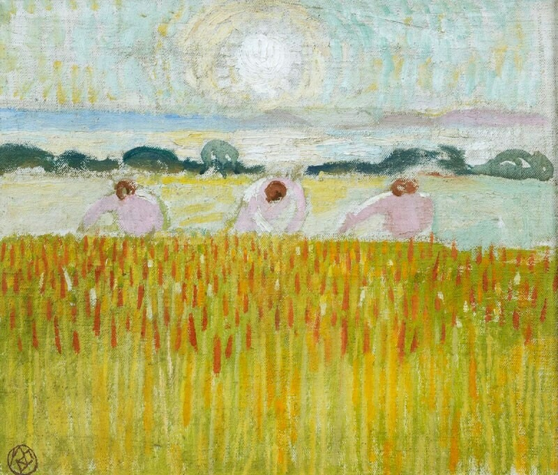 "terminusantequem: ""Maurice Denis (French, 1870-1943), Soleil blanc sur les blés [White sun on the wheat], 1914. Oil on canvas, 29 × 34 cm """