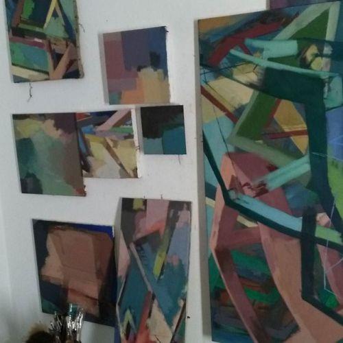 #Studio #EggtemperaOil #oiloncanvas #oilpainting #instaart #painting #contemporaryart #peinture #fineart #berlinart #christophkern #malerei #contemporarypainting #abstractart