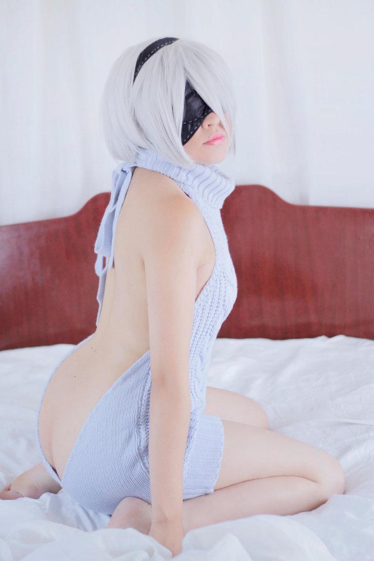 2B Virgin Killer Sweater by Zettai-Cosplay