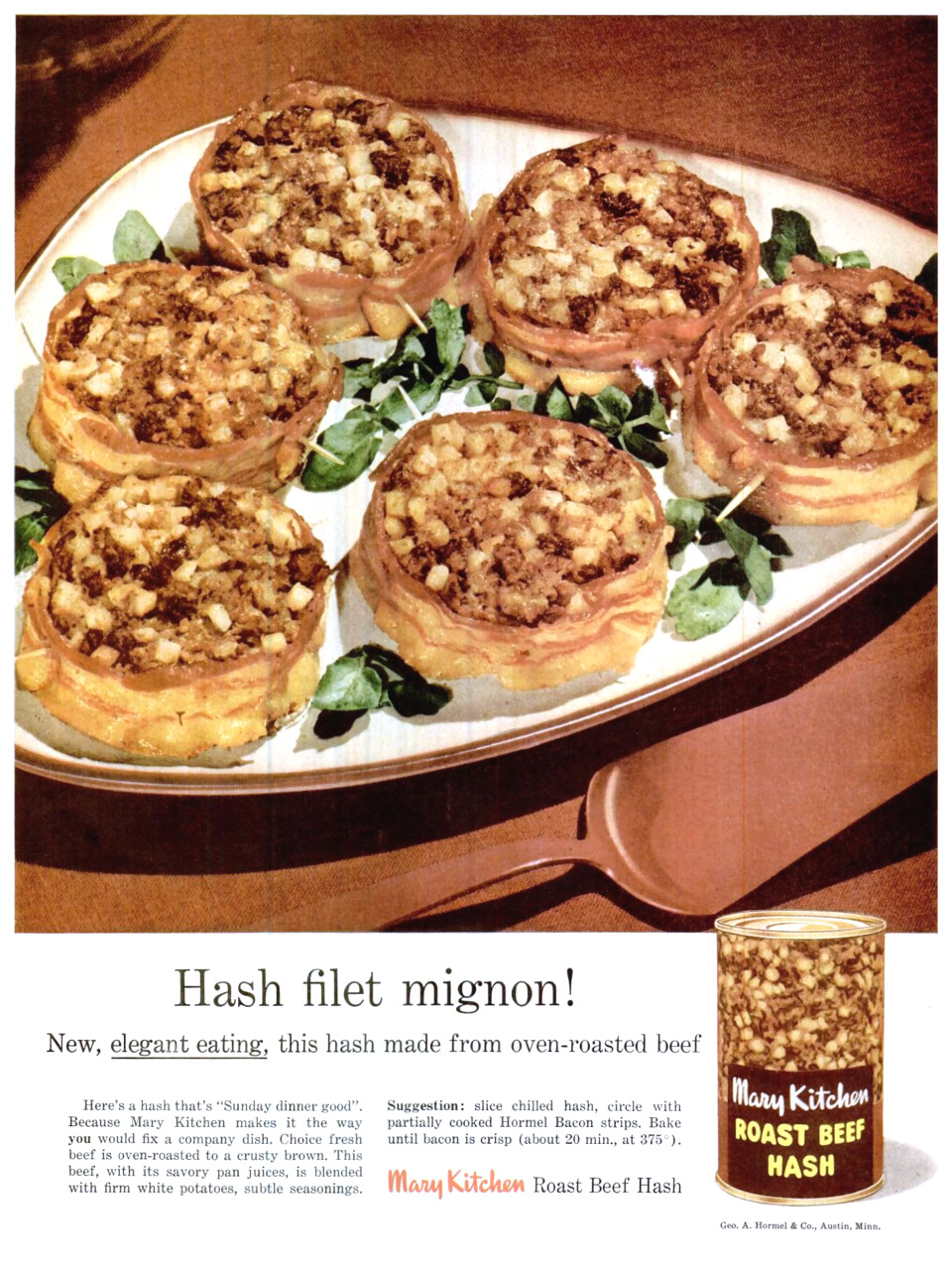 George A. Hormel Company Mary Kitchen Roast Beef Hash - 1956
