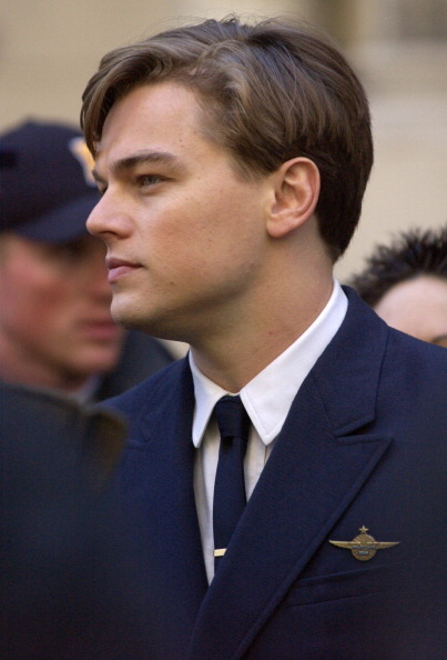 Leonardo Dicaprio On The Set Of Catch Me If You Can 2002