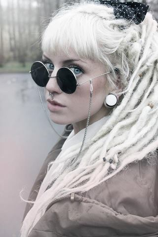 white dreads on tumblr