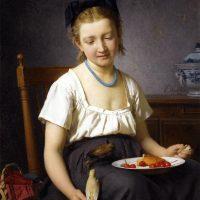 Emile-Auguste Hublin - Le goûter (1870)
