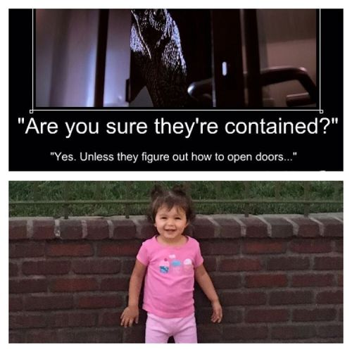 Oh god… she can open doors. 😔😔😔