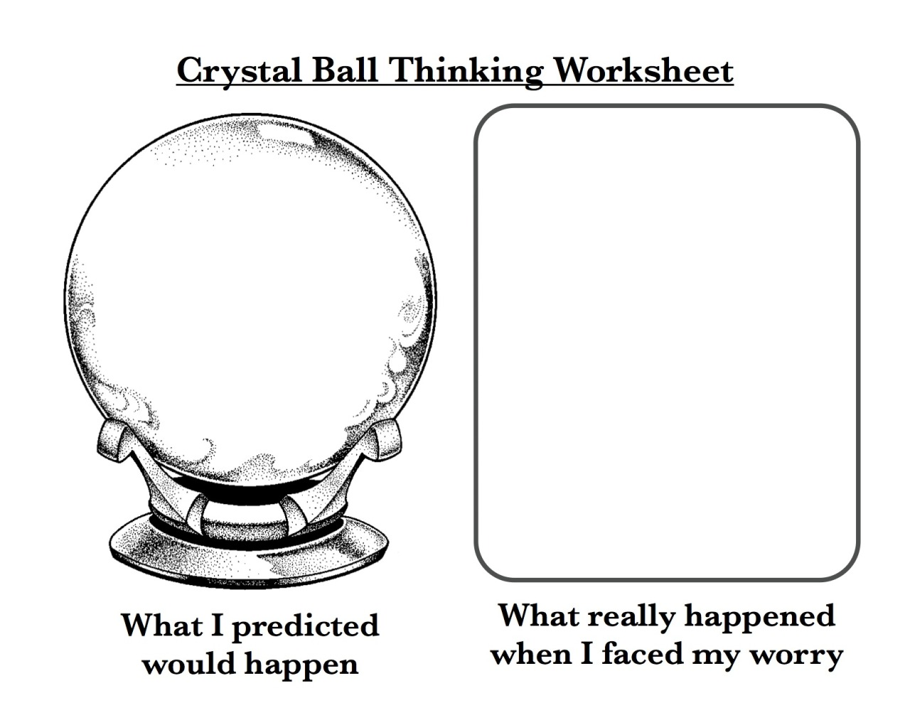 Crystal Ball Thinking Worksheets