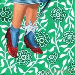 """""""Dorothy"""" an oldie but a goodie ! #Art #wizzardofOz #painting #perthcreatives #perthartist #illustration #acrylicpainting #dorothy #patterns"""
