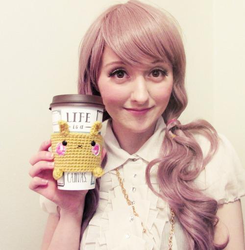 crochet pattern animal coffee sleeve