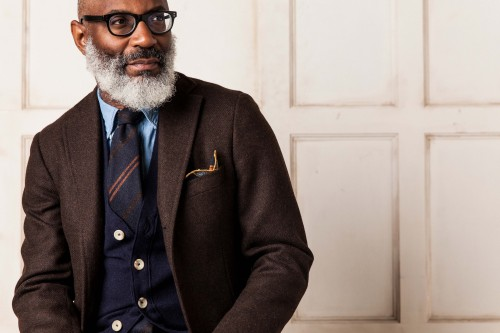 Warm, richly textured autumnal ties, available now at Drake's.
