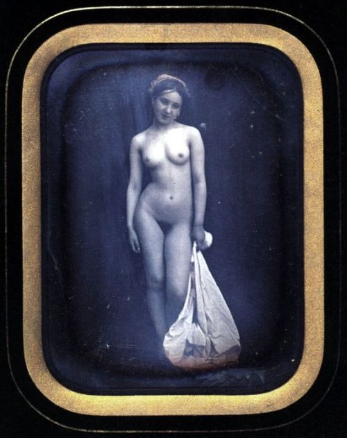 "lilit69: ""Felix J. A. Moulin-Naked girl standing (1849 daguerreotype).jpg "" female perfection 1849"