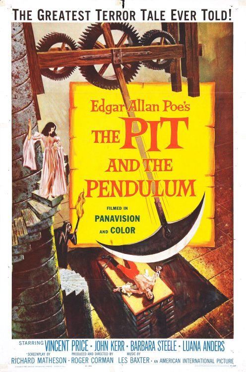 'O Poço e O Pêndulo' (1961) Poster Oficial - Fonte: Tumblr
