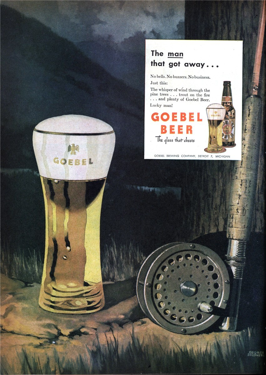 Goebel Brewing Company - published in Sports Afield - April 1946