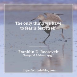 """#328 - """"The only thing we have to fear is fear itself."""" -Franklin D. Roosevelt"""