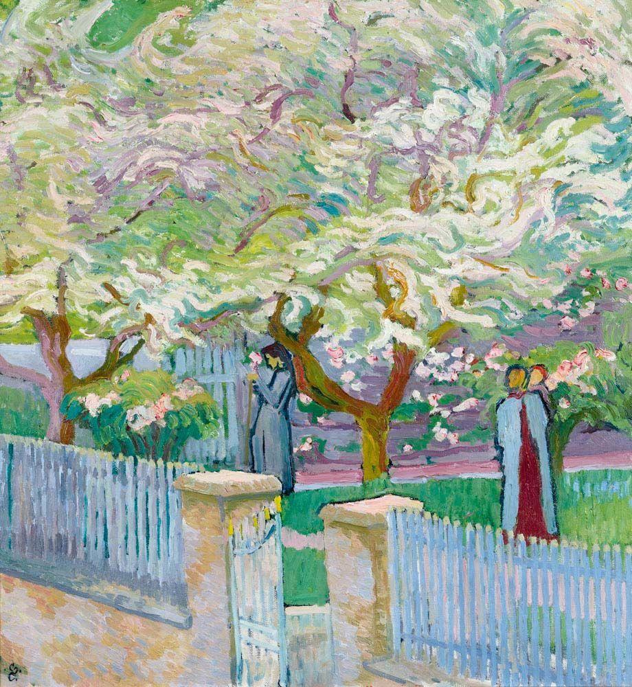 "peira:""Giovanni Giacometti: Garten im Fühling (1911)"""
