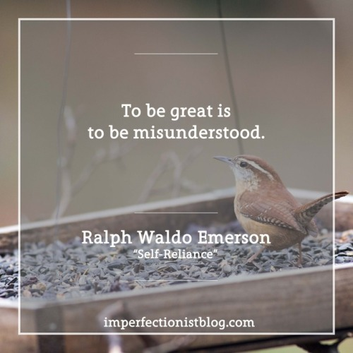 "#221 - ""To be great is to be misunderstood."" -Ralph Waldo Emerson (""Self-Reliance"")"