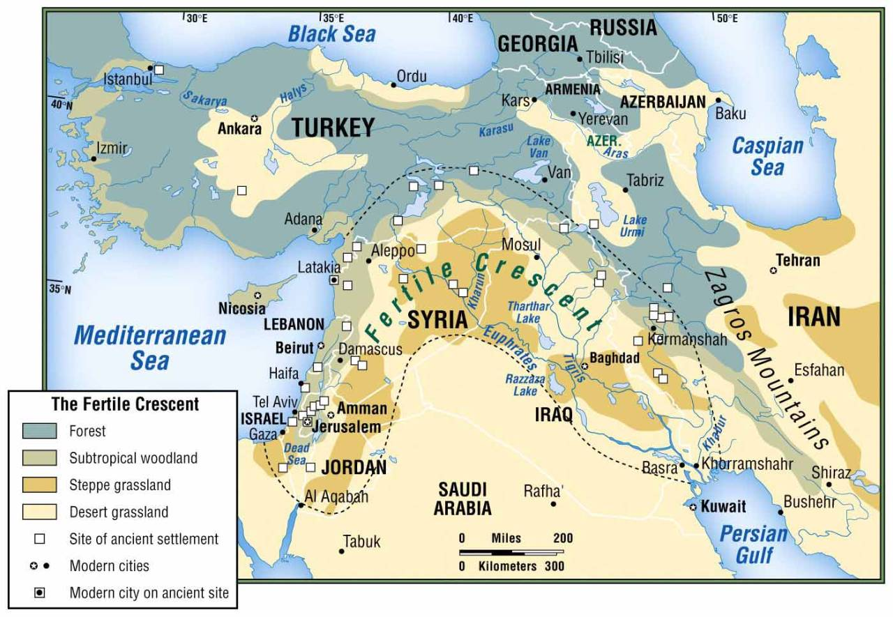Coasting On Coast The Fertile Crescent Is An Ancient Area