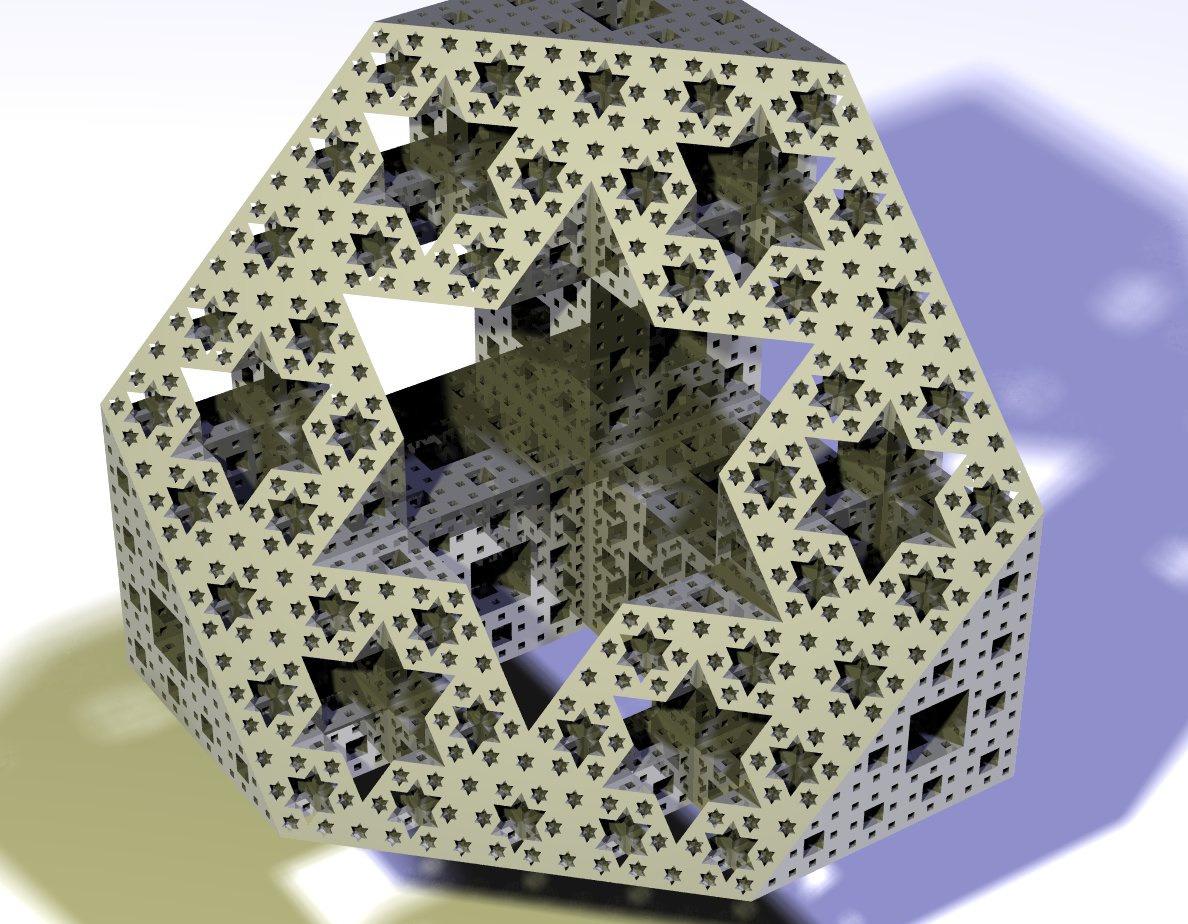 The Math Kid Cross Section Of A Menger Sponge The Cut