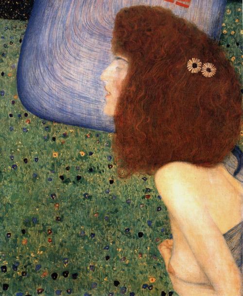 """23rd-block: """" Gustav Klimt, Girl With Blue Veil, 1902. """""""