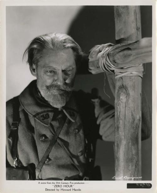 Lionel Barrymore in The Road to Glory (originally titled Zero Hour)
