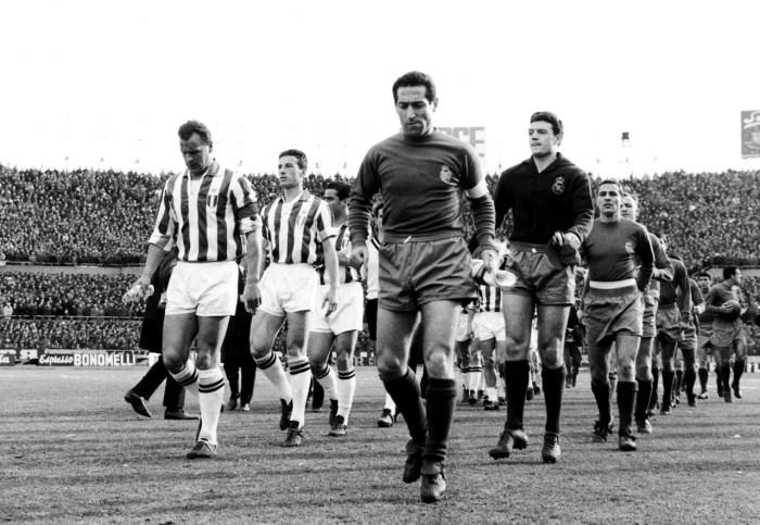 Il primo confronto in assoluto tra Juventus e Real Madrid nella Champions League, allora Coppa dei Campioni, risalente alla stagione 1961/62, foto: wikicommons
