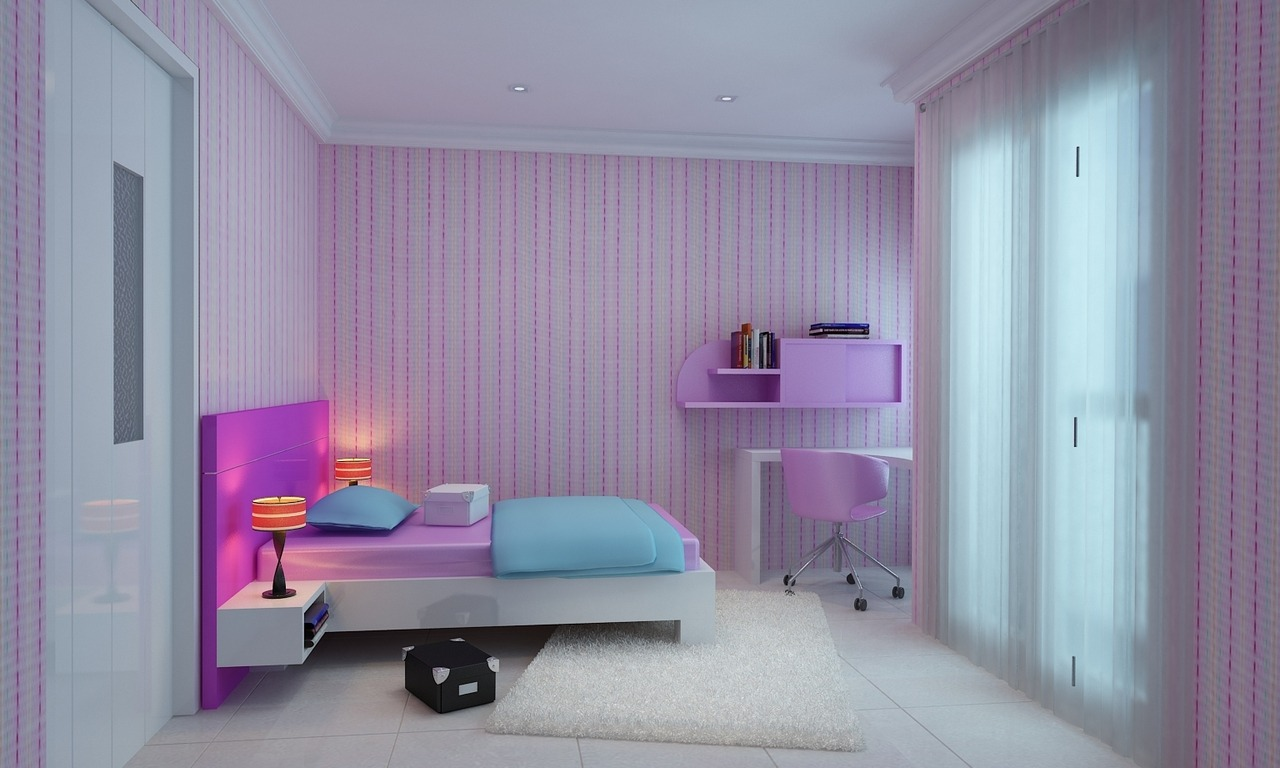 ambience-consultant • CUTE PINK AND PURPLE GIRLS' BEDROOMS ... on Cool Bedroom Ideas For Small Rooms  id=49744