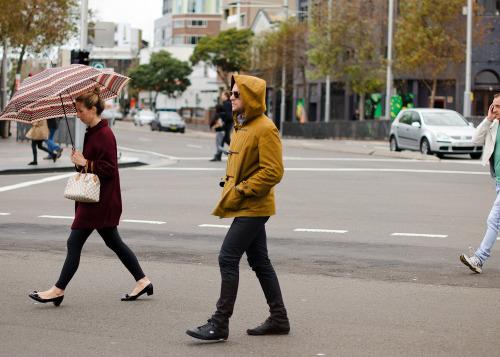 Winter duffle.Similar look: YMC Waxed Cotton Duffle With Shawl Collar And Detachable Hood.