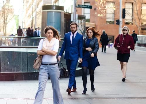 Ladies man.Similar look: ASOS Slim Fit Suit Jacket in Blue Herringbone Italian Fabric.