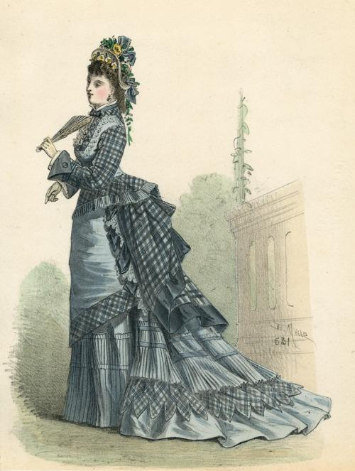 April fashion, 1875 France, L'Élégance Parisienne