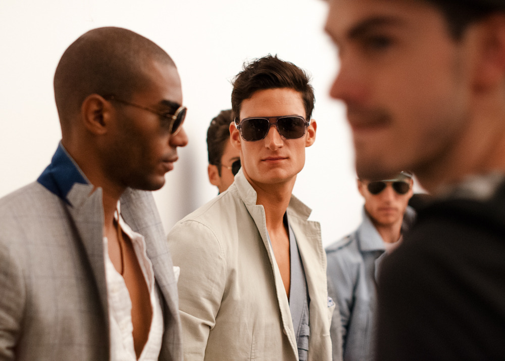 Backstage at Michael Bastian S/S 2013 collection at Milk Studios.View the entire collection here.