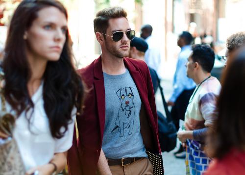 Man's best friend.Similar look: Burberry Prorsum Dog Print Cotton-Jersey T-Shirt (as shown).