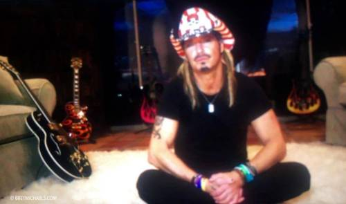 Bret Michaels screen grab from the filming of the Unbroken video.
