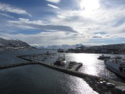 part of the harbor, view from the bridge