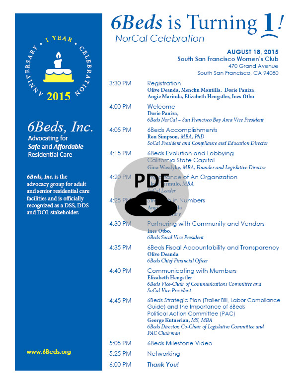 20150818---NorCal---1-Year-Celebration---Program