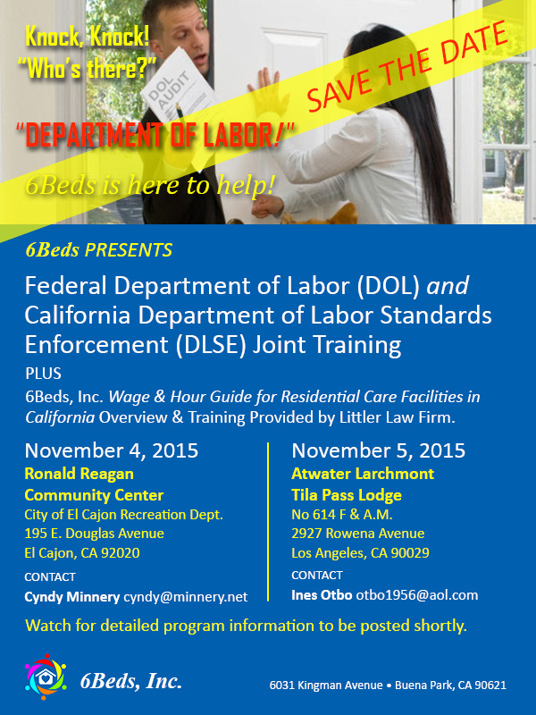 Federal Department of Labor (DOL) and California Department of Labor Standards Enforcement (DLSE) Joint Training