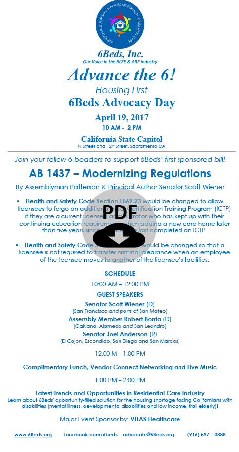 Apr 19, 6Beds Advocacy Day