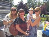 My cousin in law Sally, cousin Kim and her daughter Sarah (and again my insane cute nephew)