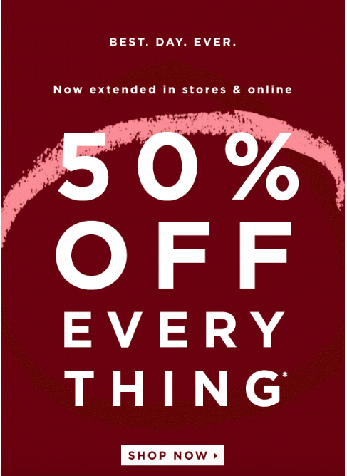 an example of a promotional email from Loft
