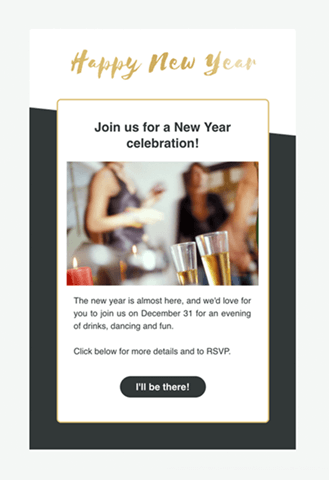 new years email template