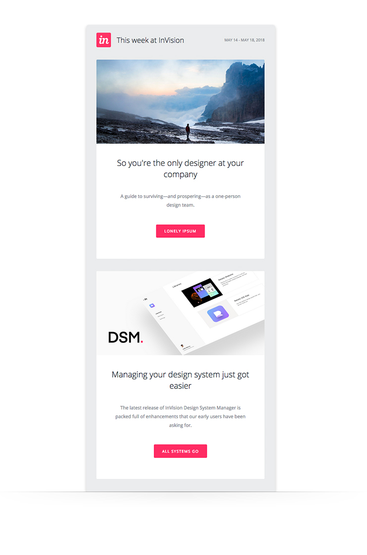 Short-from examples of content newsletter