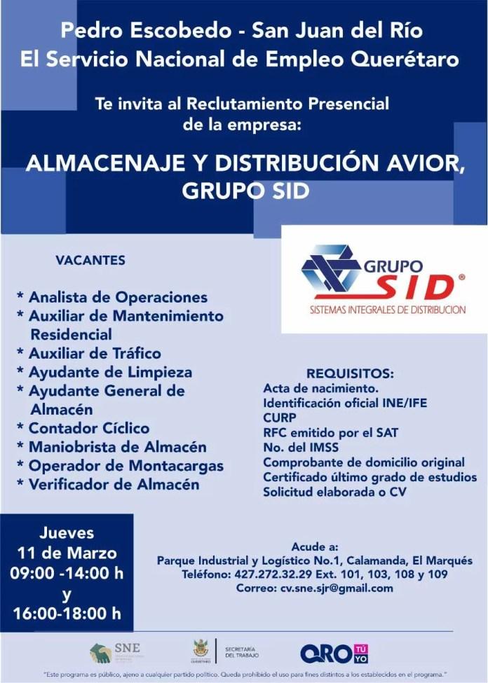 Reclutamiento presencial para San Juan del Río y Pedro Escobedo, será este 11 de marzo