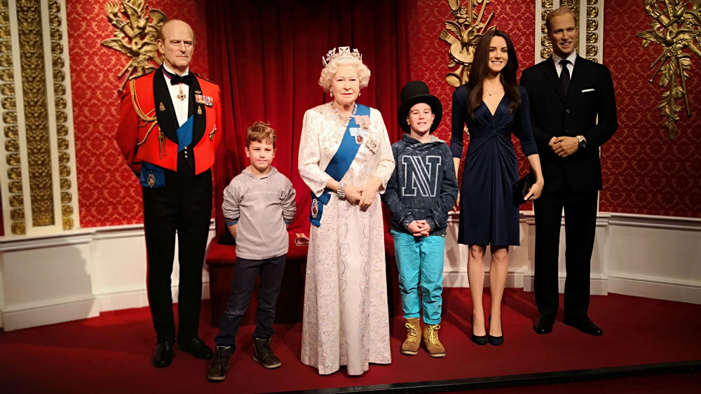 Bei Madame Tussauds in London - The Royals