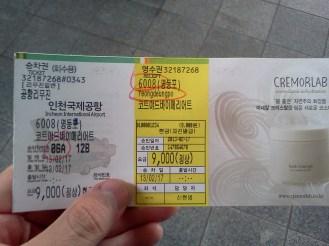 Mi ticket de Bus...