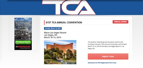 81st TCA Annual Convention