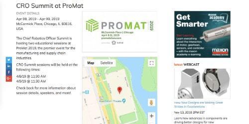 CRO Summit at ProMat