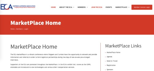 ECA MarketPlace Home