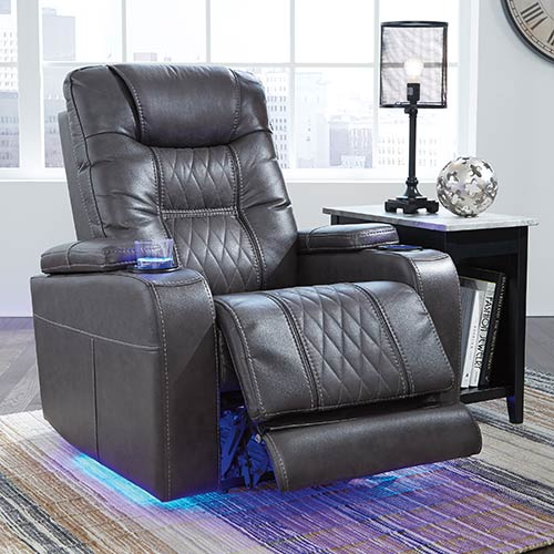 Signature Design By Ashley Composer Gray Power Recliner