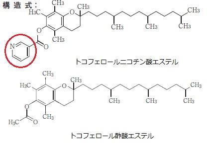 ニコチン 酸 トコフェロール