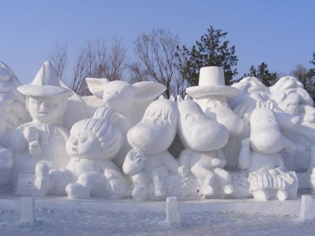 The Famous Harbin Ice Sculpture Festival Of China